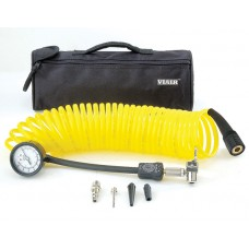 Манометр-дефлятор VIAIR (0-120 PSI, полиуретановый витой шланг, набор насадок, сумка)