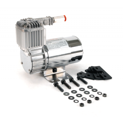 Компрессор VIAIR 100C, хром, с обратным клапаном, крепление Омега (15% рабочий цикл)