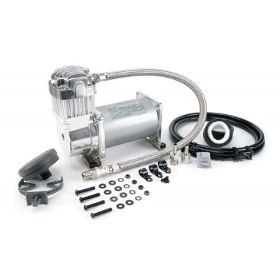 Компрессор VIAIR 325C, хром, с обратным клапаном и шлангом (33% рабочий цикл)