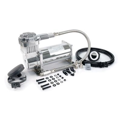 Компрессор VIAIR 380C, хром, с обратным клапаном и шлангом (55% рабочий цикл при 200 PSI)