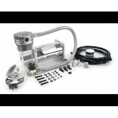 Компрессор VIAIR 420C, хром, с обратным клапаном и шлангом (33% рабочий цикл)