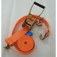 Ремень стяжной для автоэвакуатора с J - образным крюком без контроллеров 3/6 тонн 2 метра